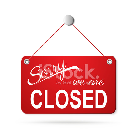 24045811-red-closed-sign-on-white